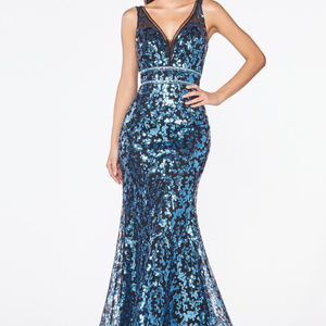 Sleeveless Bridesmaid Maxi Length dress